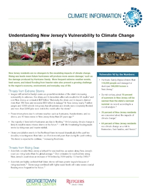 Understanding New Jersey's Vulnerability to Climate Change